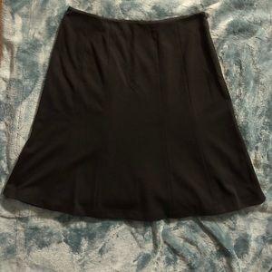 Calvin Klein A- Line Skirt Black Size 12